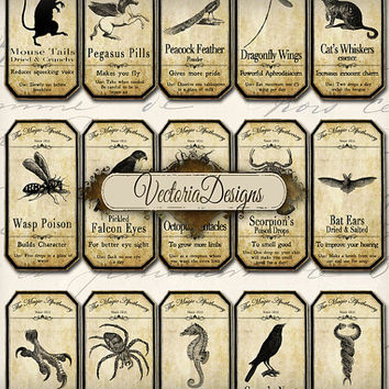 Shop Apothecary Labels on Wanelo