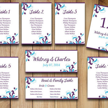 Wedding Seating Chart Template Download from PaintTheDayDesigns