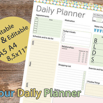 Daily Planner Printable, Daily Planner from AllPrintableDesigns
