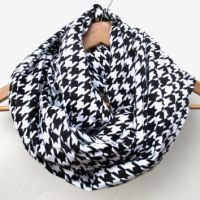 Red Houndstooth Flannel Infinity Scarf // from Southern Rustic