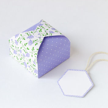 DIY printable gift box -Lavender roses NO from Paperica on Etsy