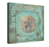 Sea Life (Sand Dollar) Canvas Wall Art from Laural Home