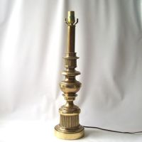 vintage stiffel solid brass table lamp from