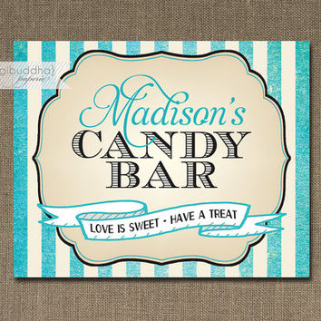 Shop Candy Bar Signs on Wanelo