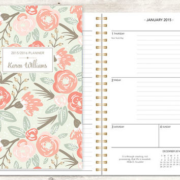 2015 planner 2015-2016 calendar from posypaper on Etsy