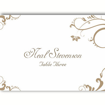 place card template free - Minimfagency - wedding place cards template free