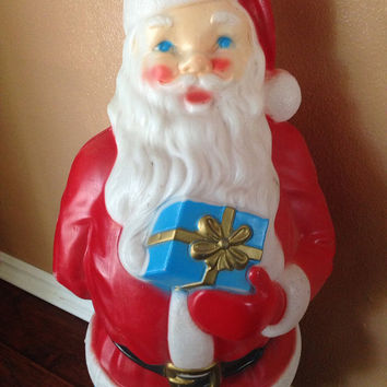 Vintage light up blow mold Santa Claus from Atailoredhome89 on