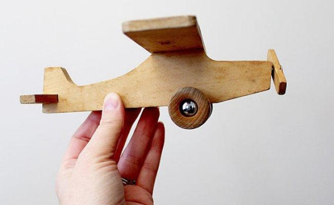 Vintage Wooden Airplane Toy By Jukka Of From Suite22 On Etsy