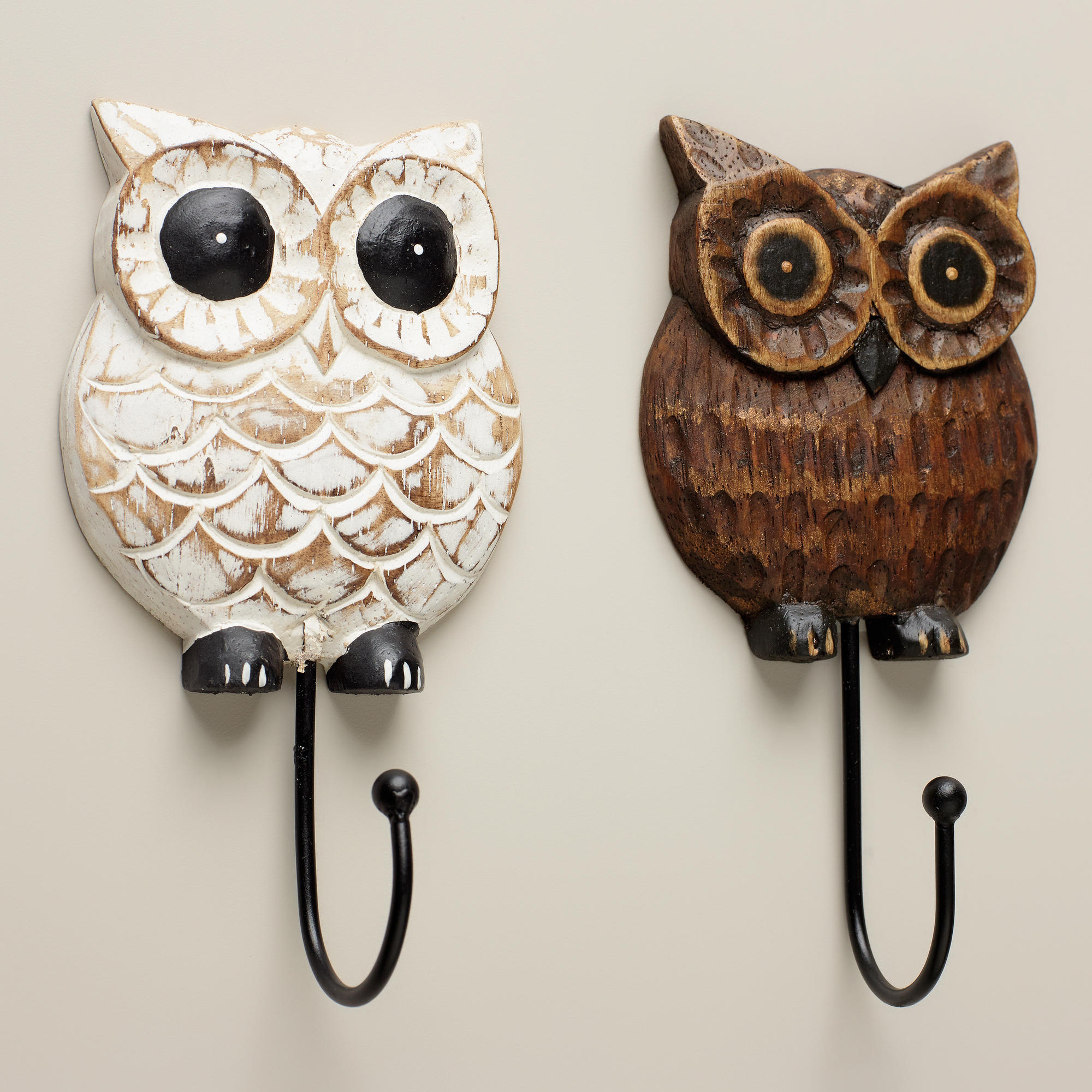 Owl Decor For Bathroom Wood Owl Hooks Set Of 2 World Market From Cost Plus