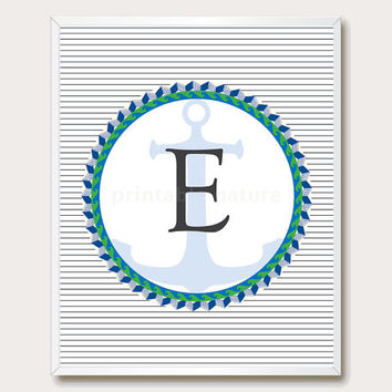 Printable Floral nursery Letter E from printablenature on Etsy
