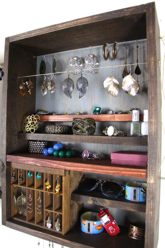 Unique Hanging Jewelry Organizer Made From Tangleandfold