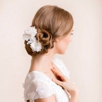Bridal Hair Flower Dahlia - Bridal Silk from Florentes