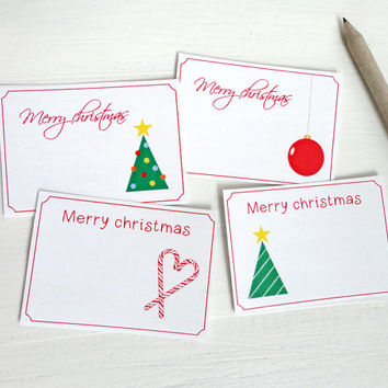 Small christmas cards printable gift tags from AvenirCards on