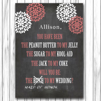 Best Funny Will You Be My Bridesmaid Cards Products on Wanelo