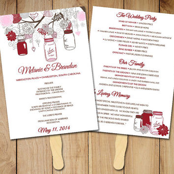 Best Wedding Program Fans Products on Wanelo