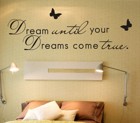 Dream until your dreams come true wall from lovindiy on etsy