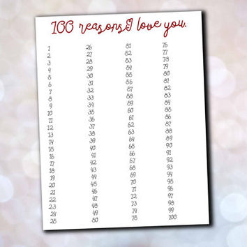 Funny Love Card - Top 10 Reasons Why I from The Nested Turtle
