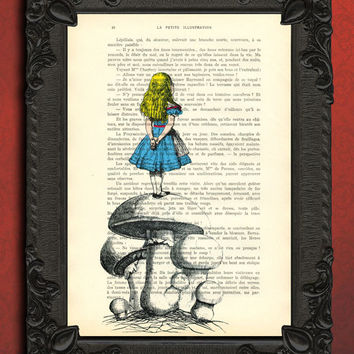 vintage dictionary art print ALICE IN from MadameMemento on Etsy