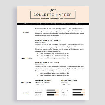Professional CV Template and Cover Letter from PolishedResumeDesi - two page resume samples