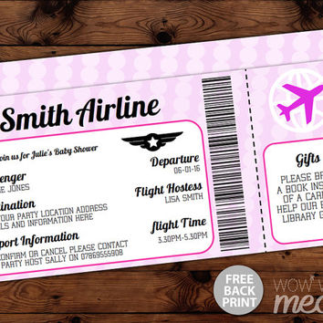 Best Ticket Invitations Products on Wanelo - airline ticket invitation