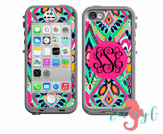 monogrammed lifeproof case