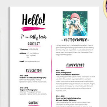 Elegant Résumé Template 2 Pages Resume + from LaurelResume on - resume 1 page