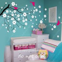 Baby nursery wall decals Cherry blossom from NatureWall on ...