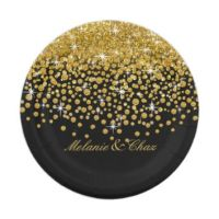 Shop Black And Gold Paper Plates on Wanelo