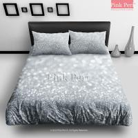 Silver Grey Sparkle Glitter Bedding Sets from Pink Peri ...