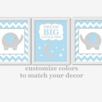 Baby Boy Nursery Wall Art Blue Gray from ...