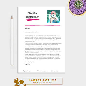 Elegant Résumé Template 2 Pages Resume + from LaurelResume on - 1 page resume template