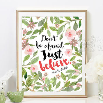 Bible quotes printable art floral from ButterflyWhisper on Etsy