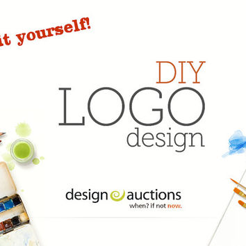 premade logo design watercolor logo from designauctionsnow on - etsy banner template