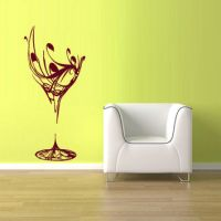 Shop Wine Glass Vinyl on Wanelo