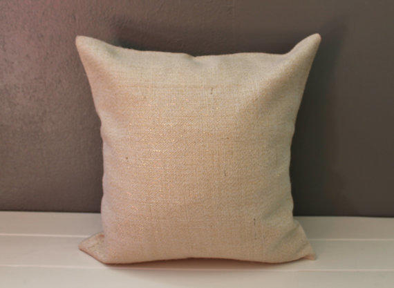 Gold Glitter Burlap Pillow Cover From Habitat Handcrafted