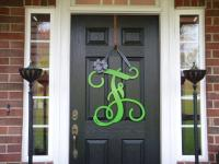 "23"" Initial monogram front door wreath / from housesensation"