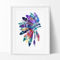 Best Feather Wall Painting Products on Wanelo