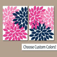 Navy Pink WALL Art Canvas or Prints Navy from TRM Design ...