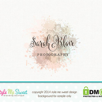 Premade Photography Logo Watercolor Logo from stylemesweetdesign