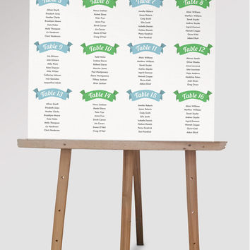 Custom Wedding Seating Chart DIY from themidwestdarling on Etsy