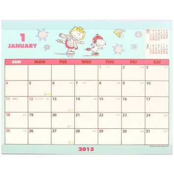 2015 Peanuts Snoopy Desk Calendar Plan from Cute Life