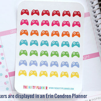 Video Game Controller Stickers - 42 from TheNiftyPlanner on Etsy