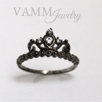 PRINCESS Crown Ring BLACK (Sterling from VAMMJewelry on Etsy