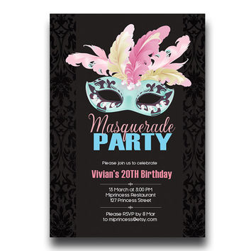 Best Masquerade Party Invitations Products on Wanelo