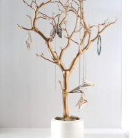 Jewelry Holder Organizer Tree Gold white from ...