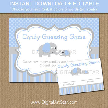 Elephant Candy Guessing Game - Elephant from Digital Art Star