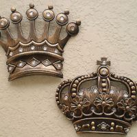 NEW Gold Crown Wall Decor Art Royalty from poshreddecor on
