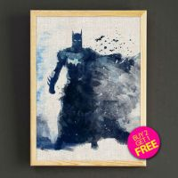 Batman Watercolor Art Print Dark Knight from Star2Go on Etsy