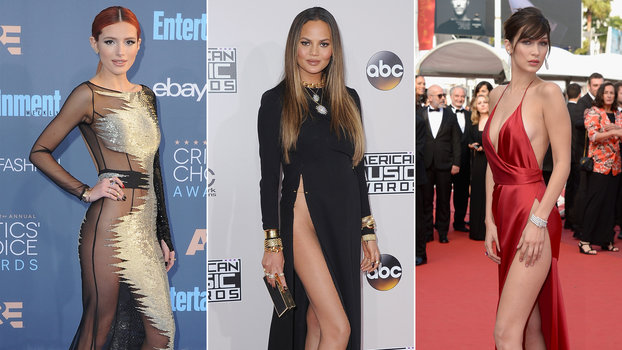 How To Wear A High Slit Dress Without A Wardrobe