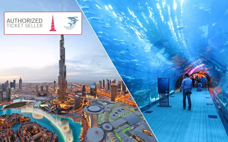 Burj Khalifa And Dubai Aquarium Ticket Combo Discounted Price Headout